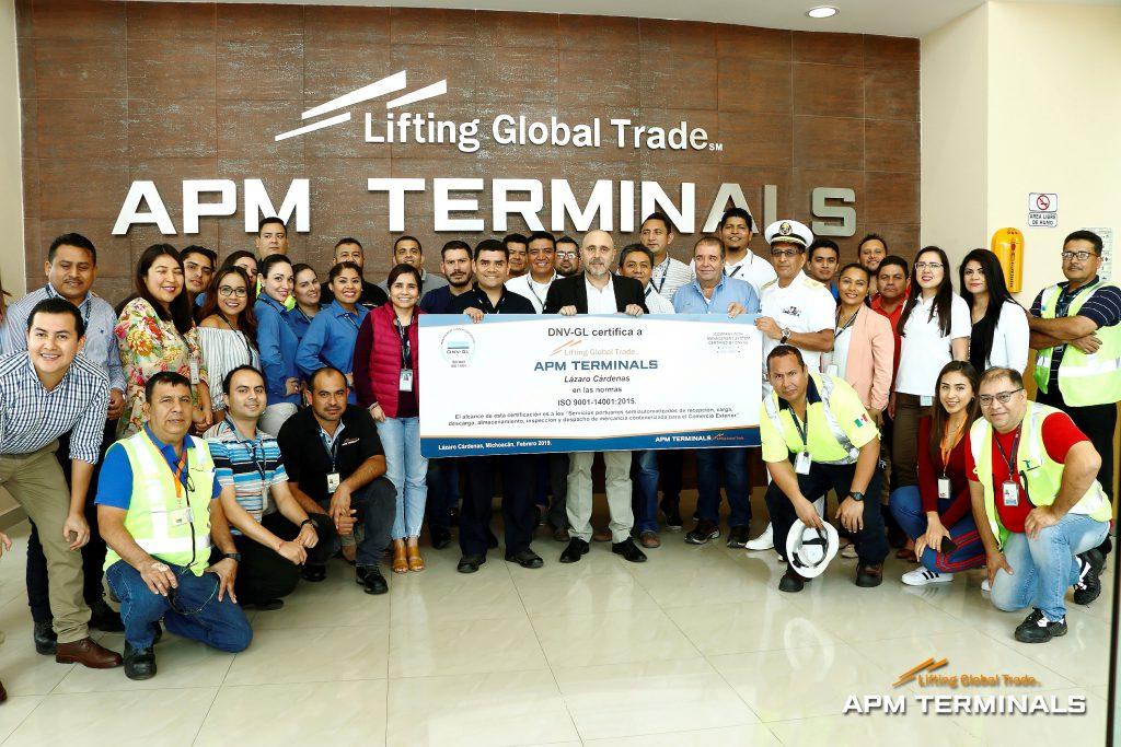 APM Terminals es certificada